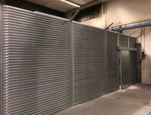 Realizzazione recinzione interna al magazzino